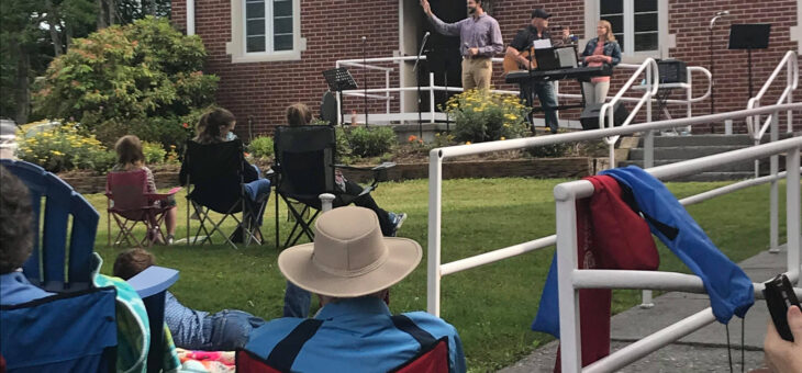 Worship on the Lawn, June21